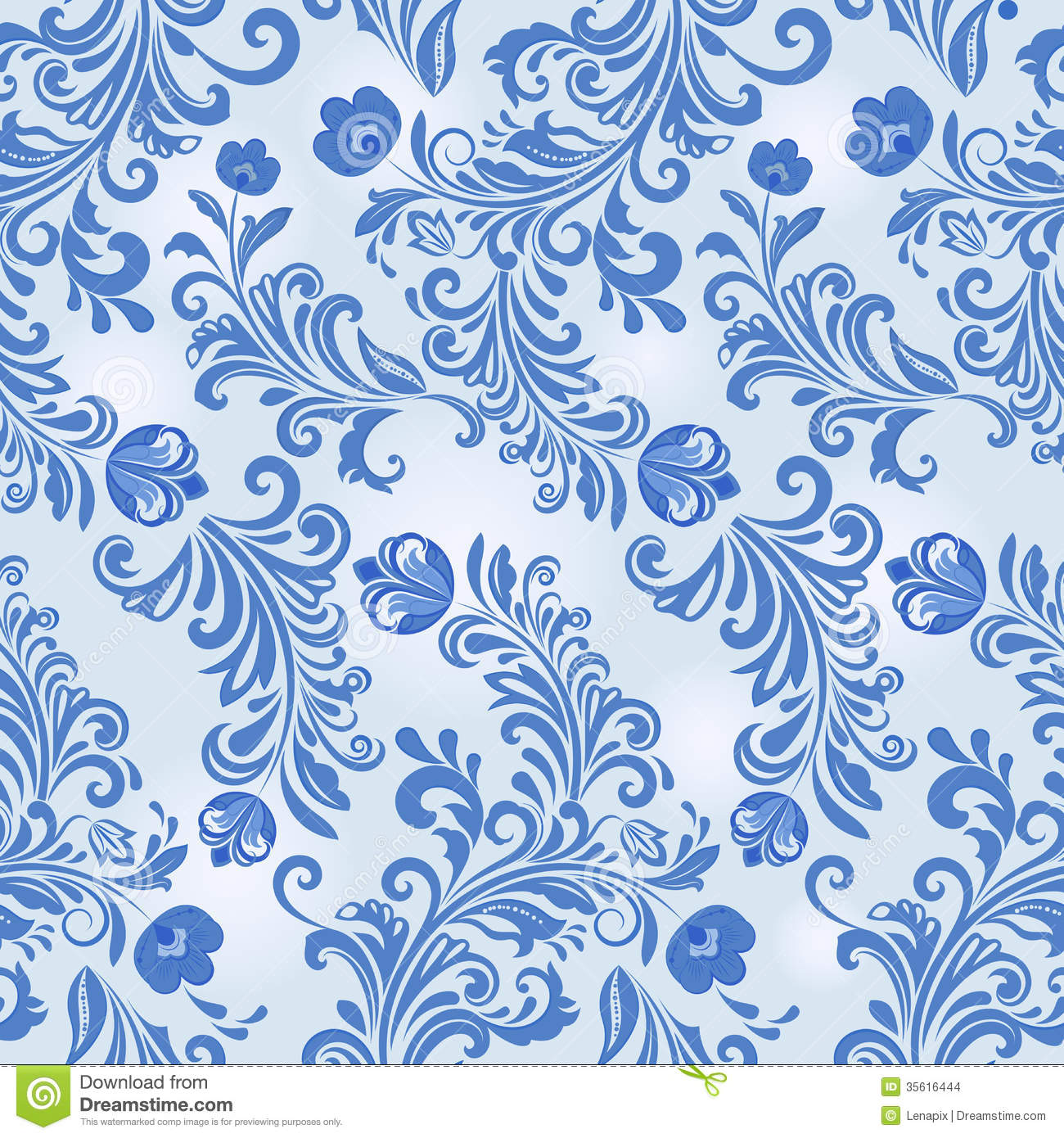 Blue flower wallpaper pattern