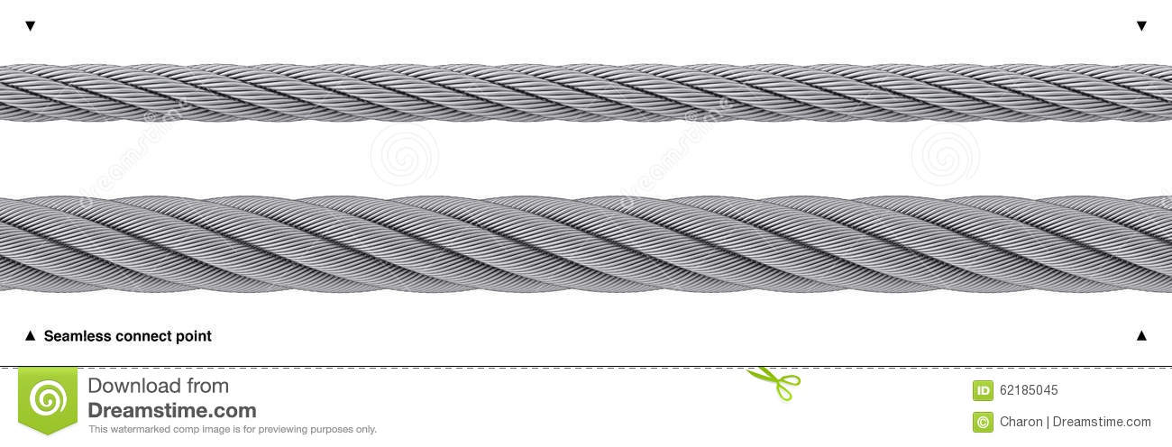 Seamless Wire Rope Heavy Duty Isolated Stock Photo - Image: 62185045