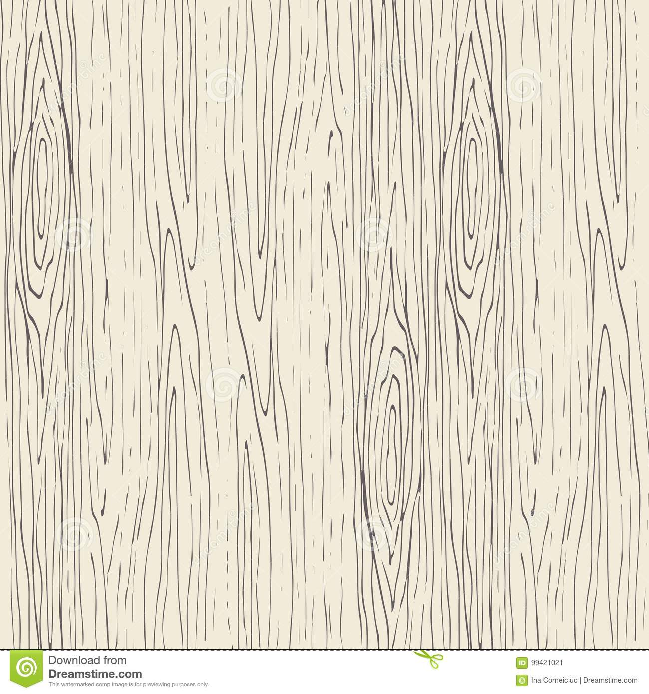Seamless Wood Grain Pattern Wooden Texture Vector Background Stock
