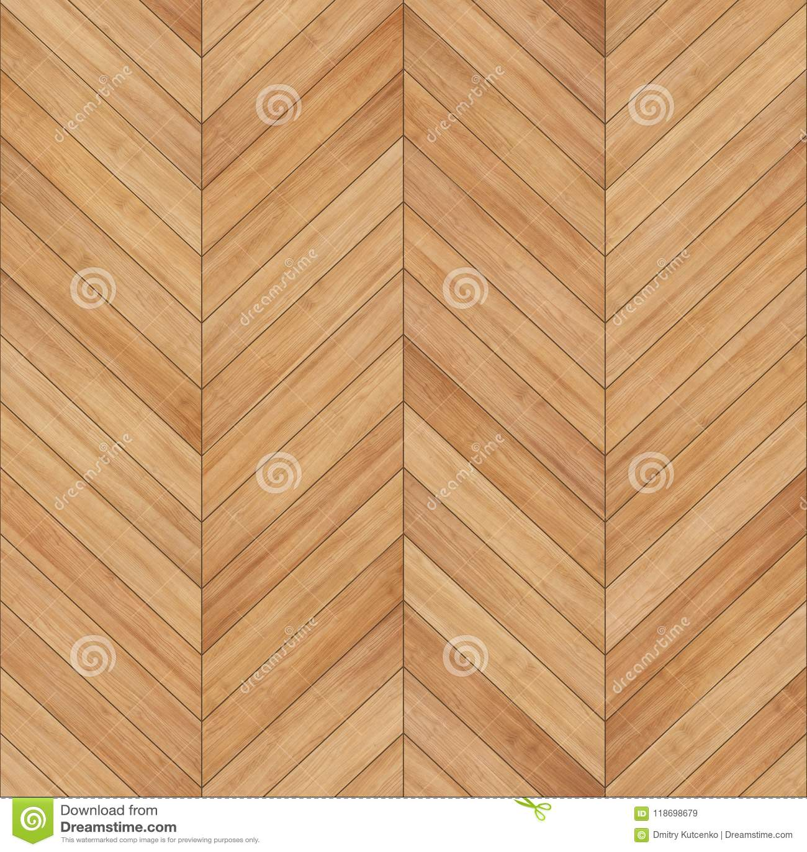 Seamless Wood Parquet Texture Chevron Light Brown Stock Image
