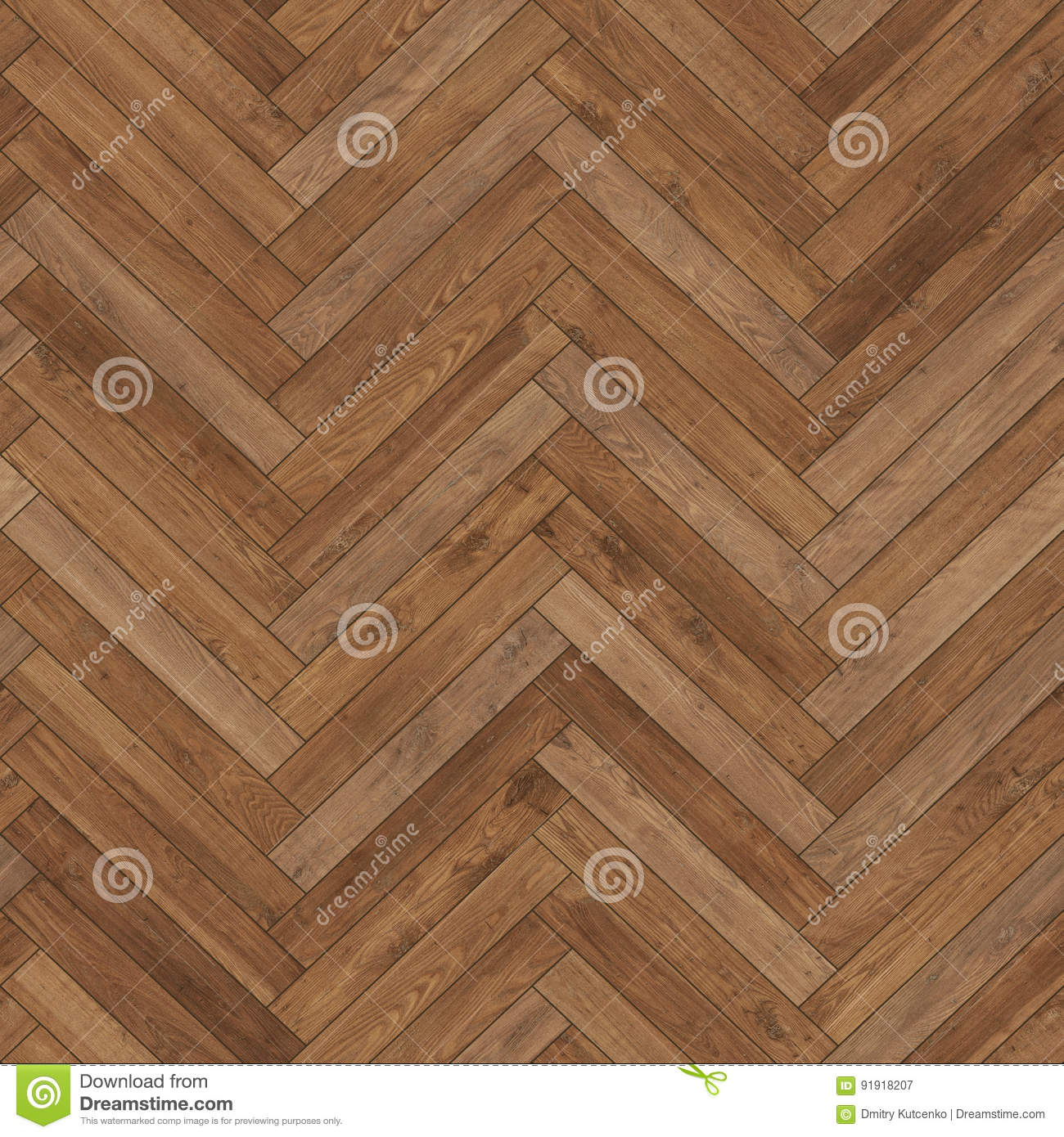 Seamless Wood Parquet Texture Herringbone Brown Stock Image Image