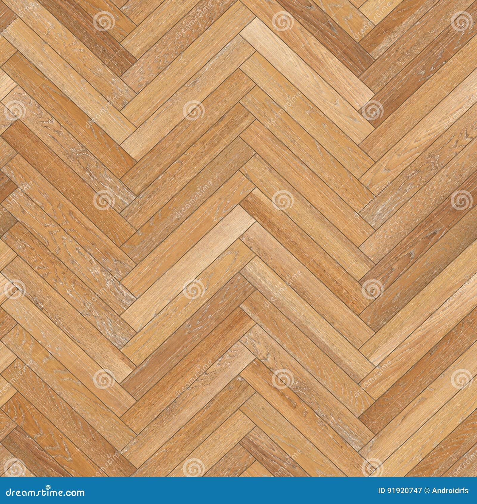 Seamless Wood Parquet Texture Herringbone Light Brown Stock Image