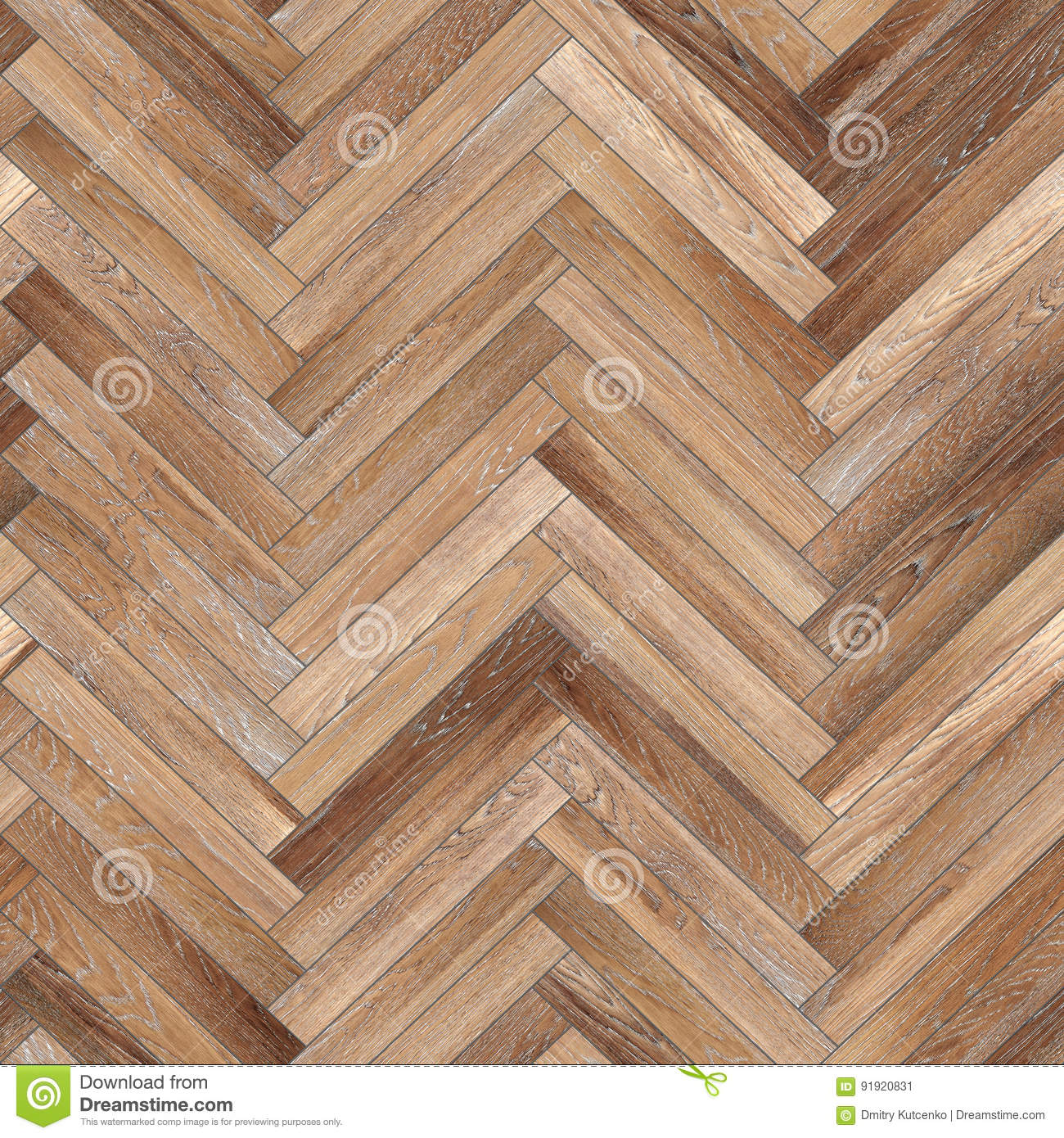 Seamless Wood Parquet Texture Herringbone Light Brown Stock Image