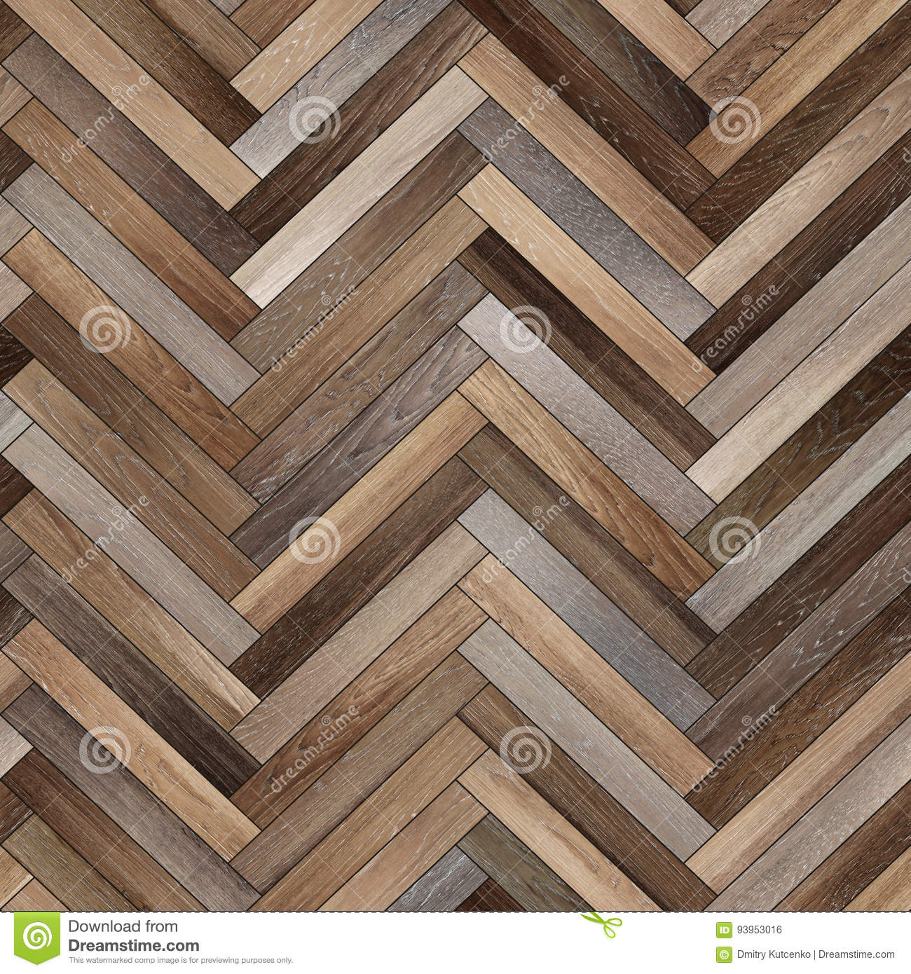 Seamless Wood Parquet Texture Herringbone Various Stock Illustration