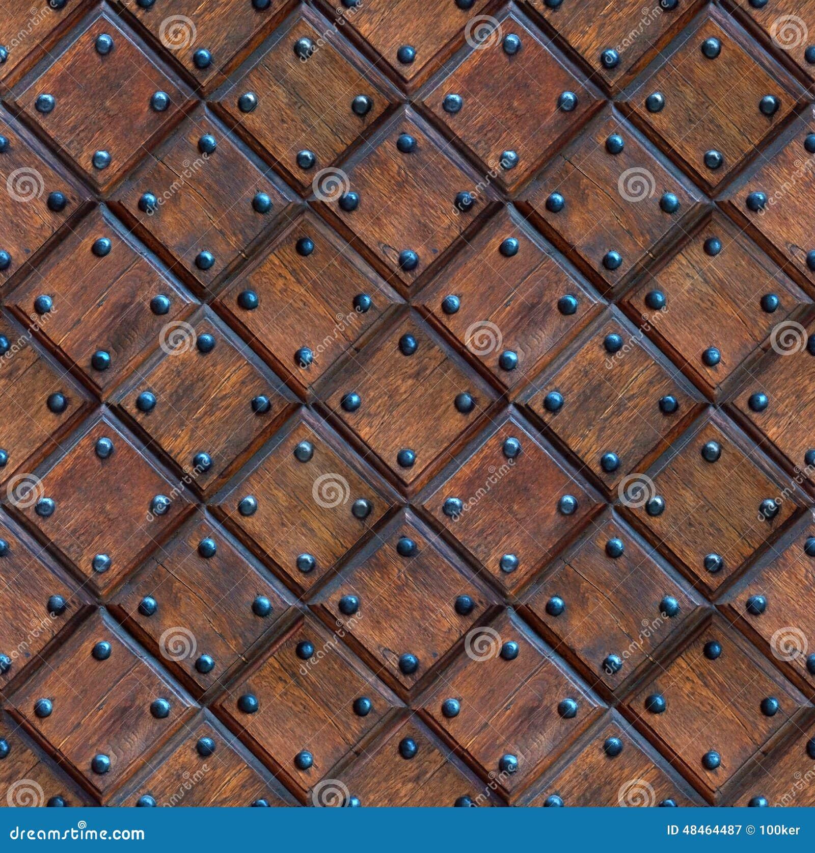 Door Wood Texture Seamless : Seamless Wooden Panel Door Texture With Nails Stock Photo - Image ...