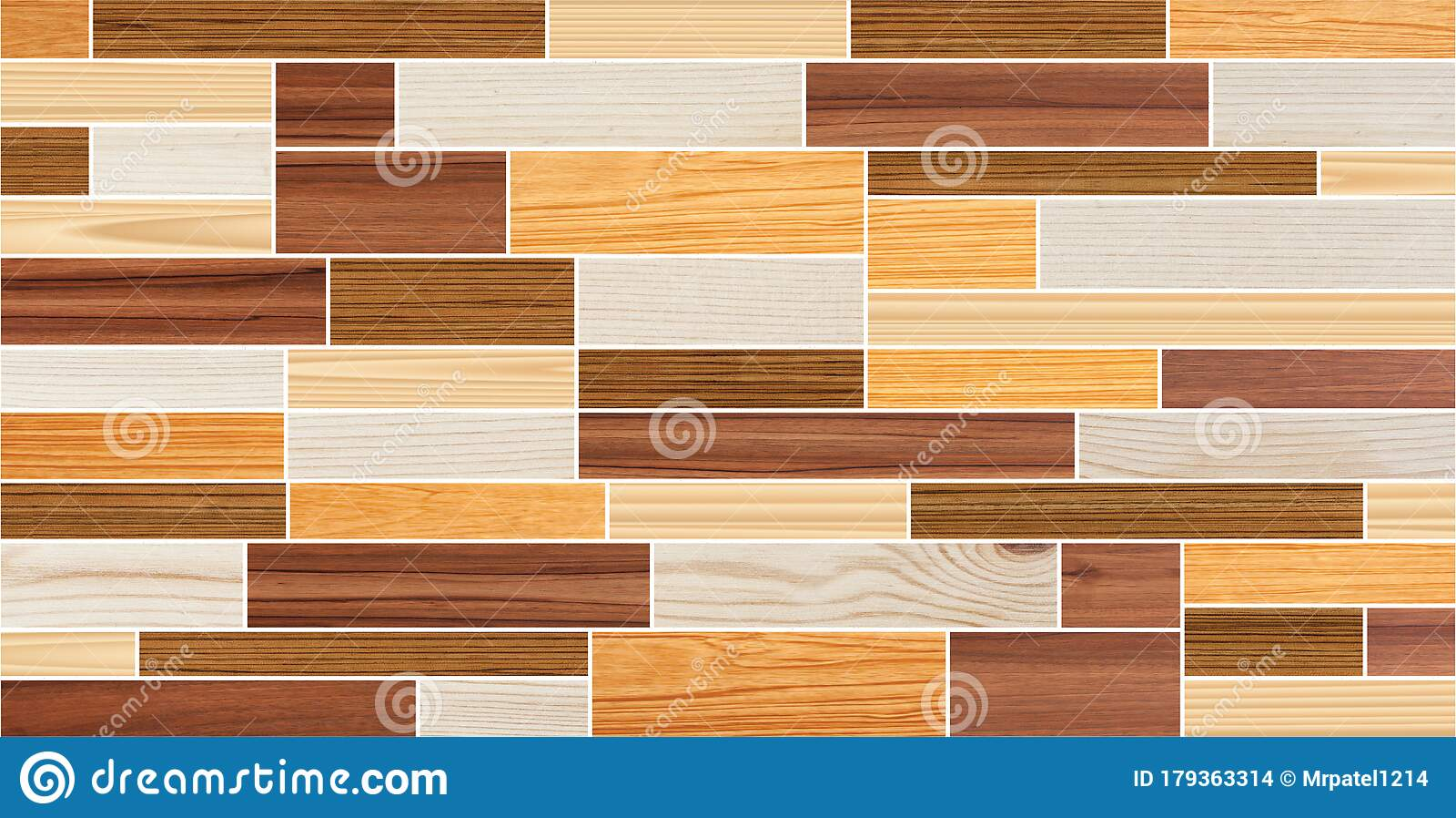 Seamless Wooden Wall Paneling Texture Stock Photo Image Of Modern Mosaic 179363314