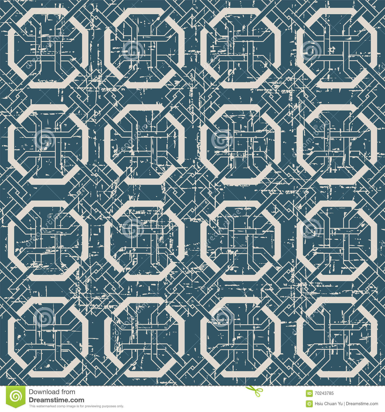 Seamless Worn Out Antique Background 186 Octagon Frame