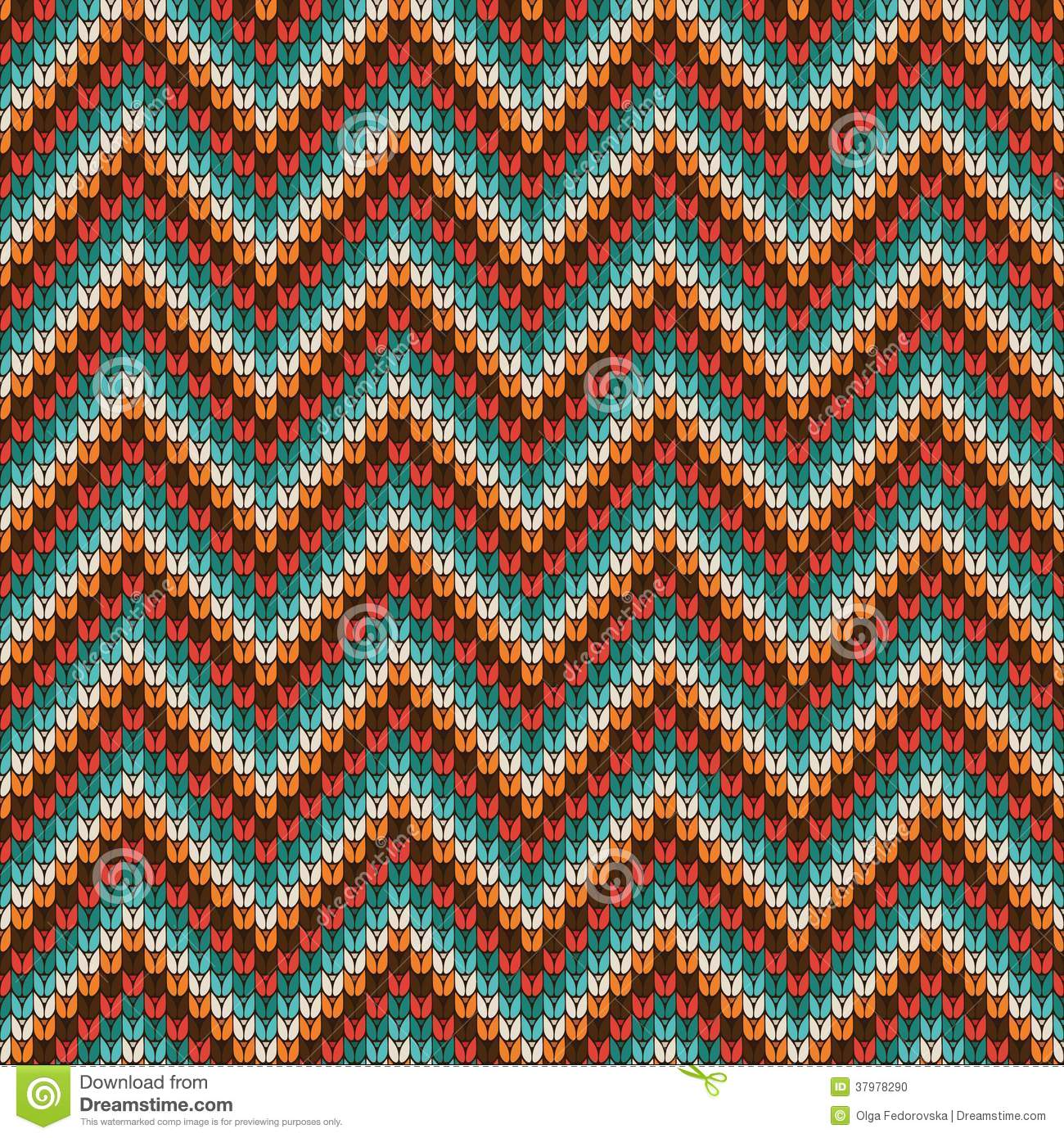 Knitting Pattern Vector Download : Seamless Zigzag Knitting Pattern Stock Photo - Image: 37978290