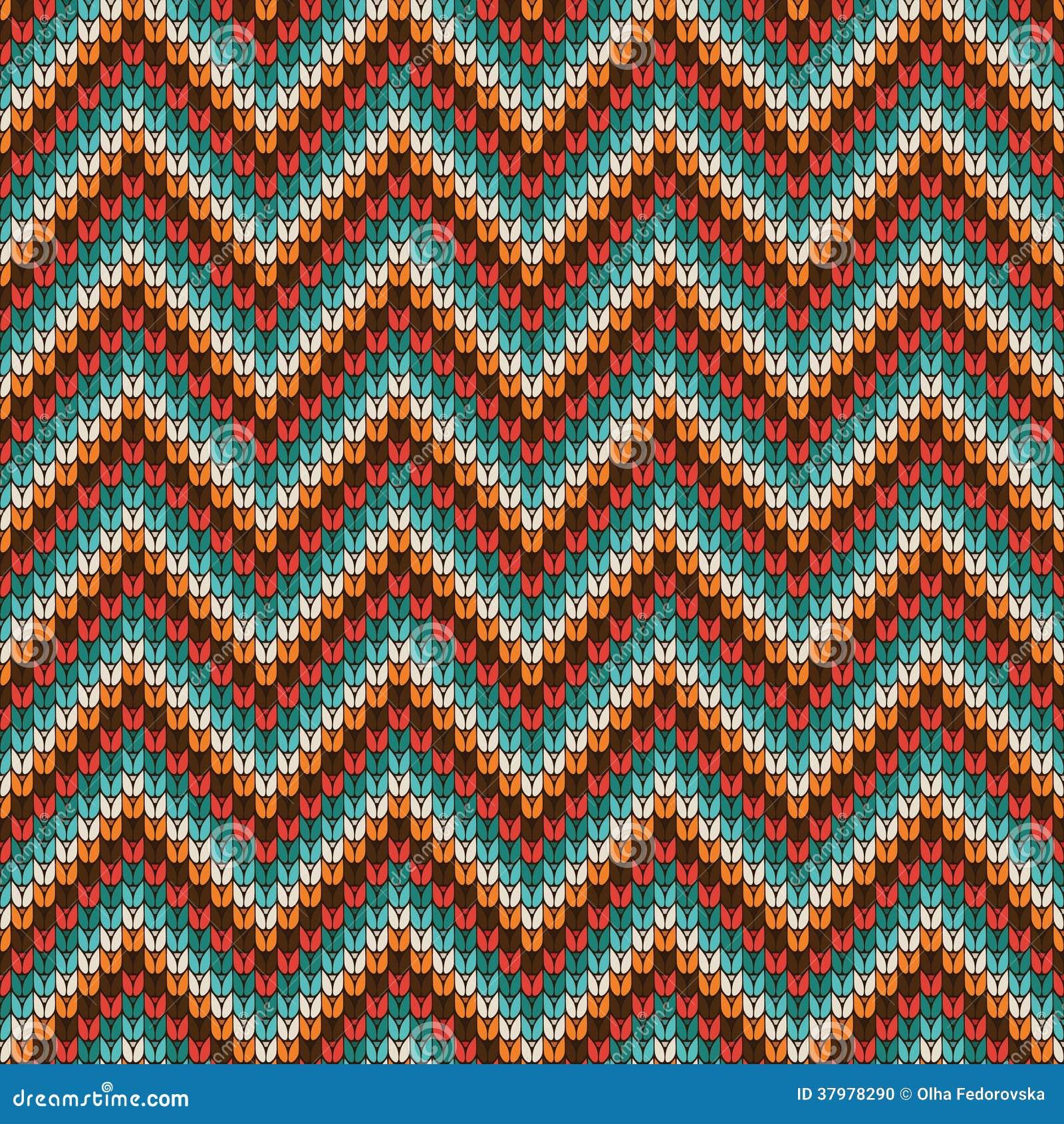 Zigzag Knitting Pattern : Seamless Zigzag Knitting Pattern Stock Photo - Image: 37978290