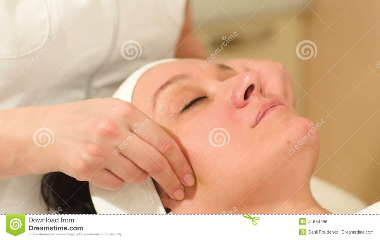 Seance Of Professional Facial Massage At Beauty Stock Footage Video Of Hand Dolly 41664886