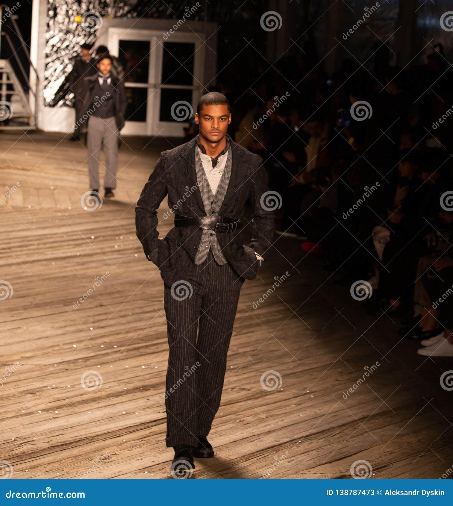 Joseph Abboud Mens Fall 2019 Fashion show as part of New York Fashion Week