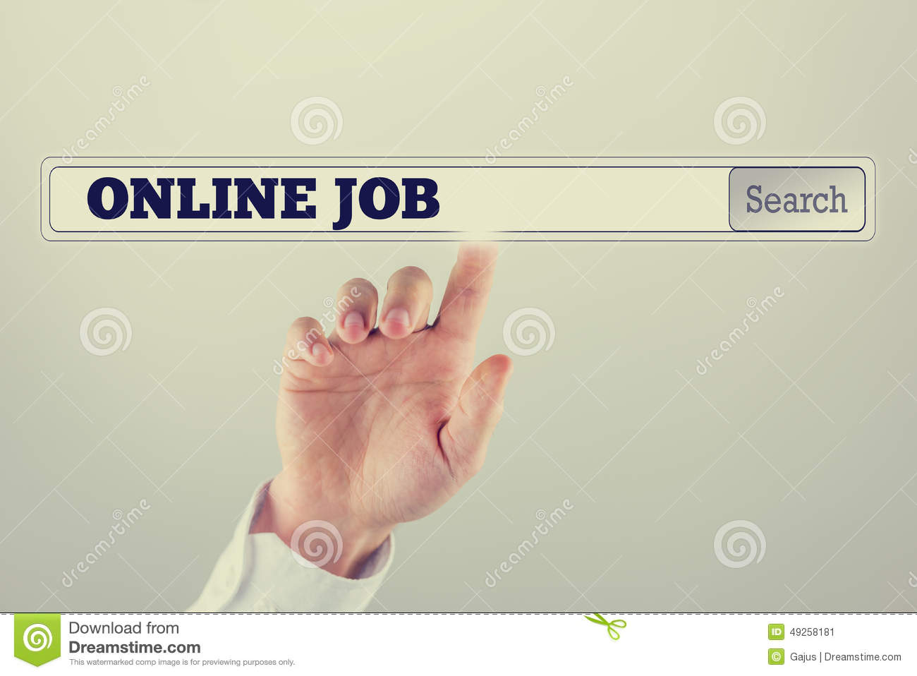 search bar on a virtual computer screen online job text stock search bar on a virtual computer screen online job text