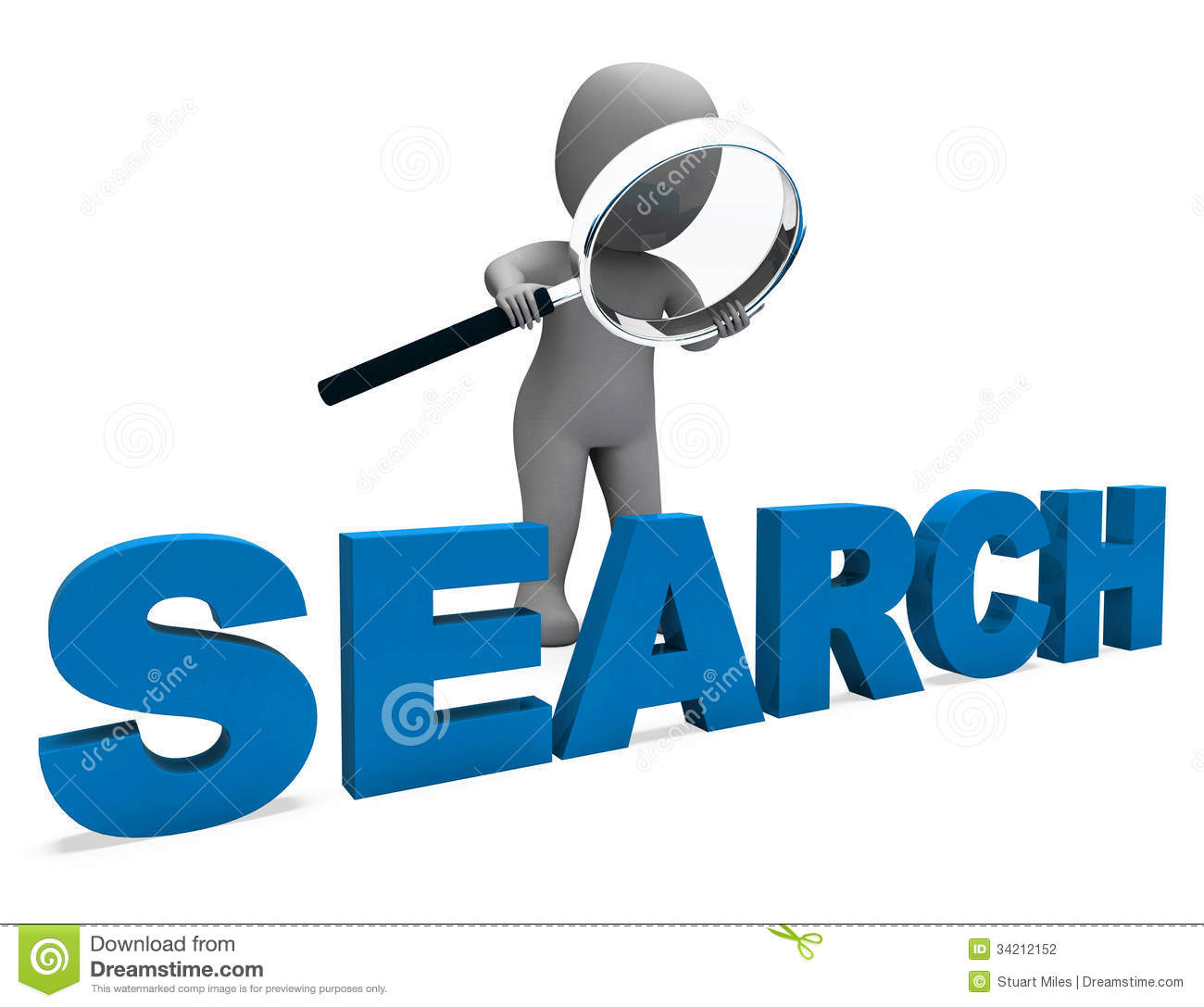 search character shows internet find and online research
