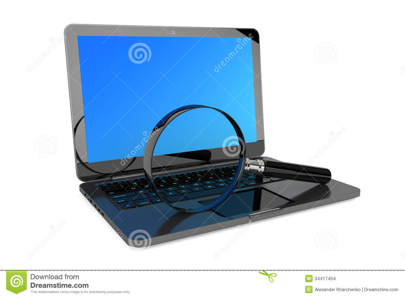 Search Concept. Laptop And Magnifier Stock Images - Image: 34417404: dreamstime.com/stock-images-search-concept-laptop-magnifier-white...