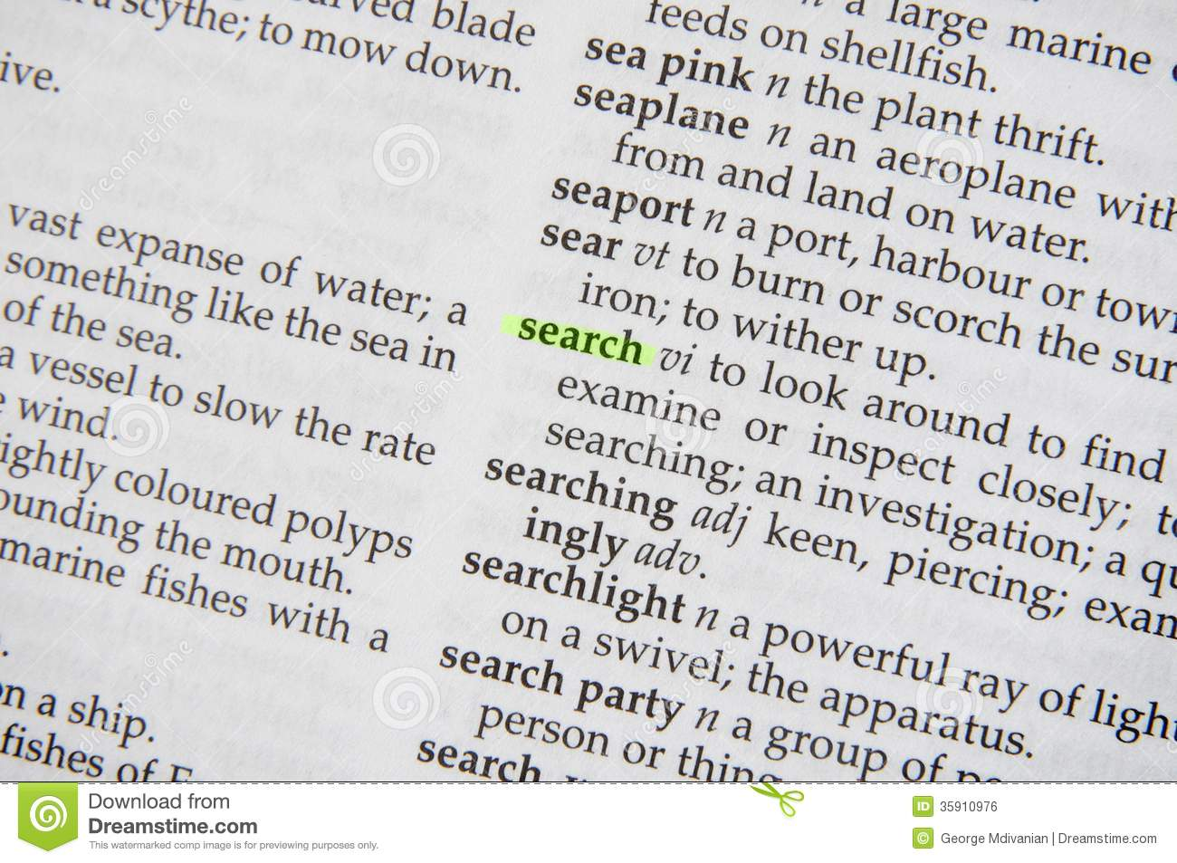 Search in dictionary royalty free stock image image for Open dictionary