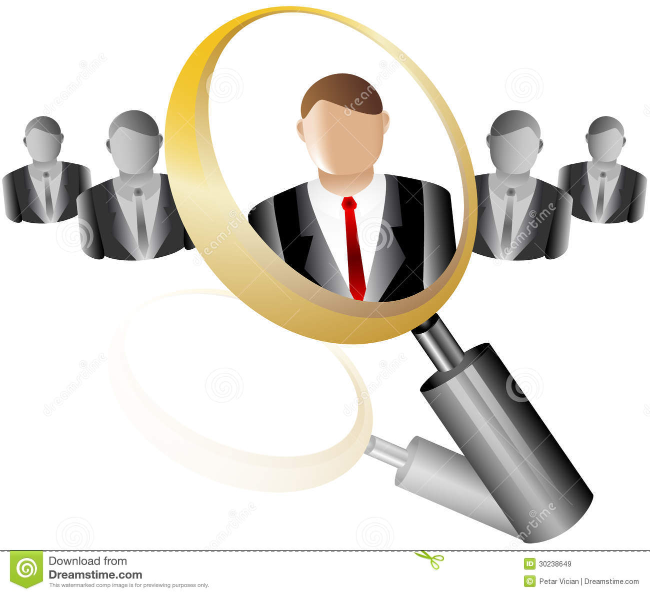 Search employee icon for recruitment agency magnif royalty for Bureau recruitment