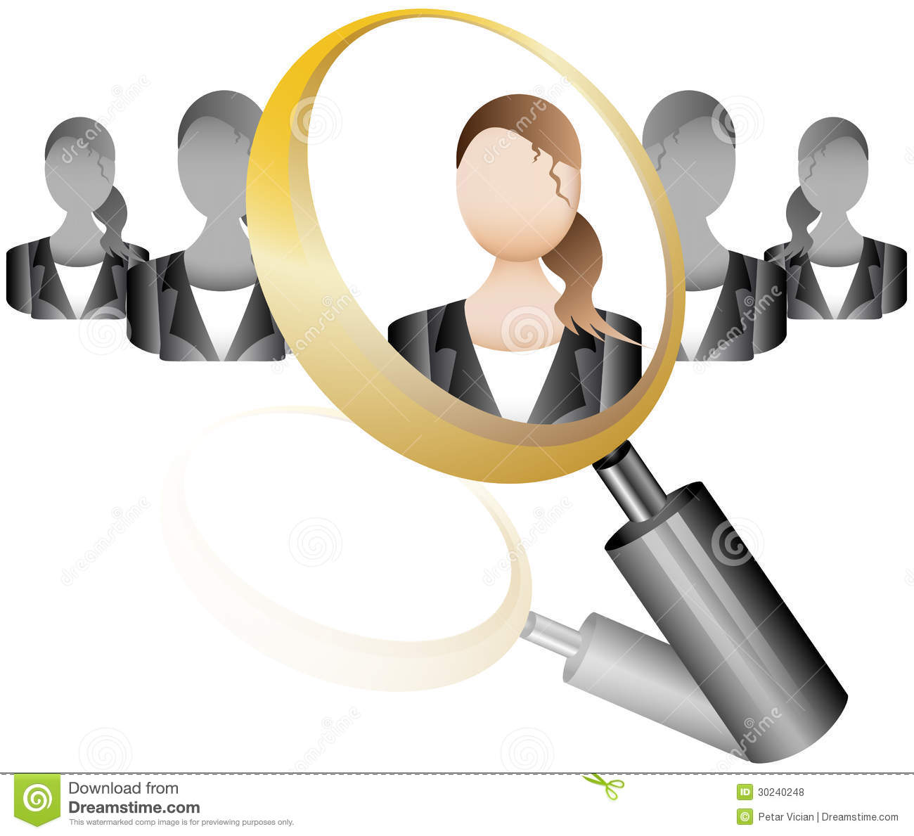 employee recruitment human resource selection interview search employee icon for recruitment agency magnif royalty stock photos