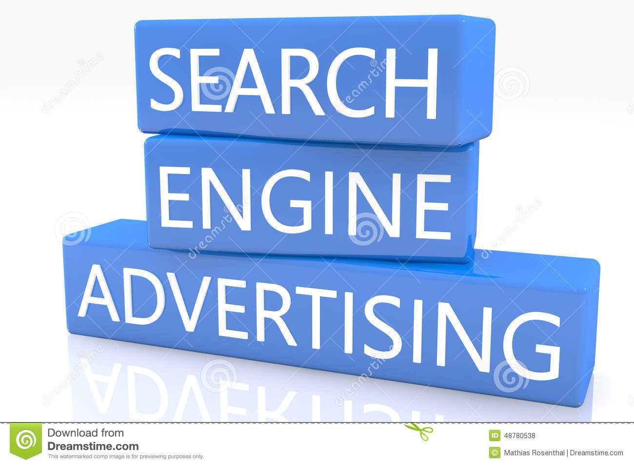 Search Engine Advertising Stock Illustration - Image: 48780538