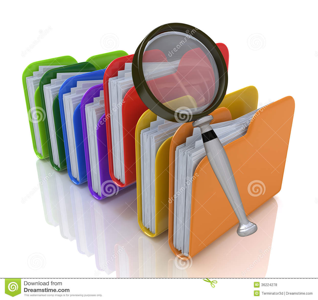 Search For Files In The Folder Stock Illustration Image