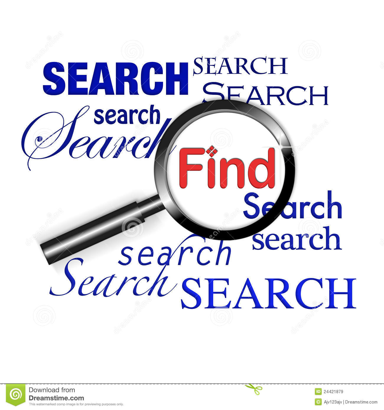 Find: Search Find Magnify Glass Stock Illustration. Image Of