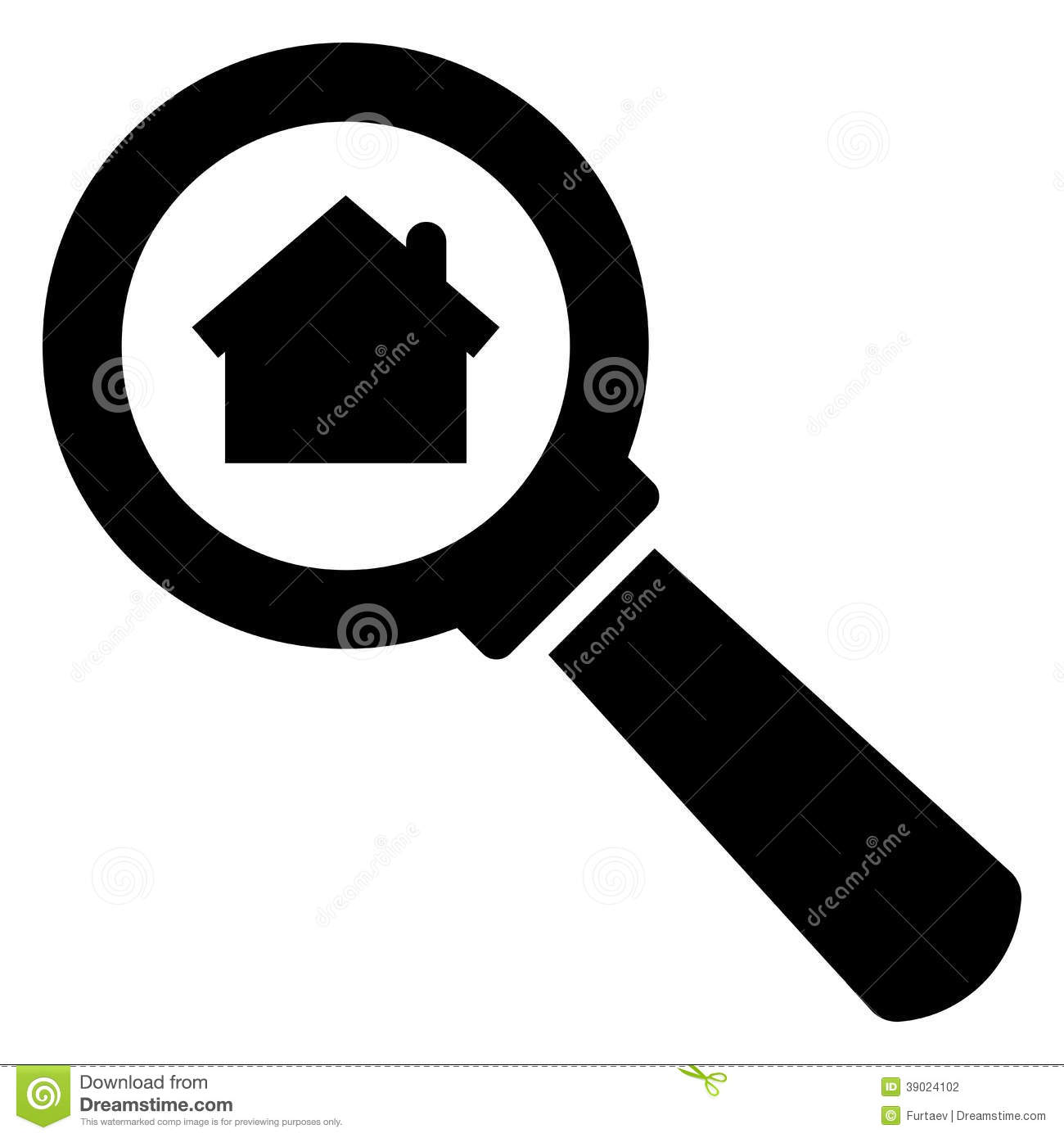 Search Home Icon Stock Vector Image 39024102