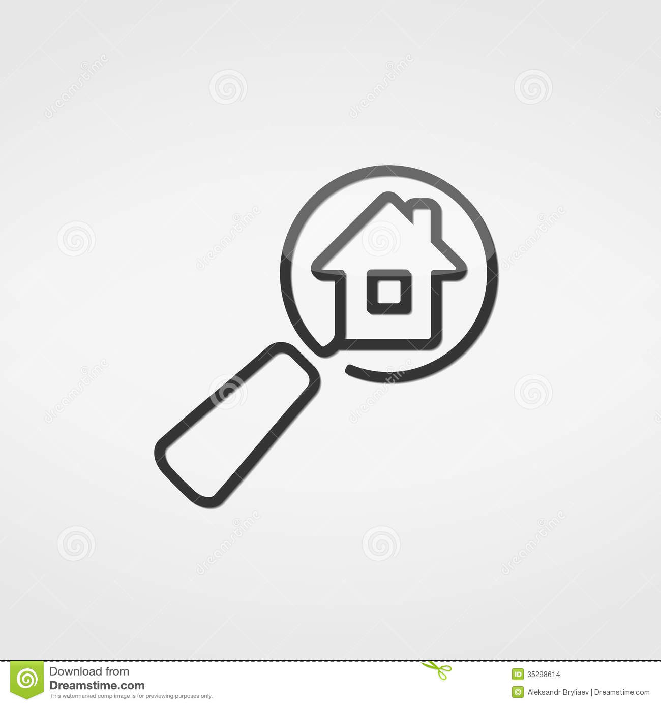 Search House Icon Stock Images - Image: 35298614: www.dreamstime.com/stock-images-search-house-icon-simple-gray...