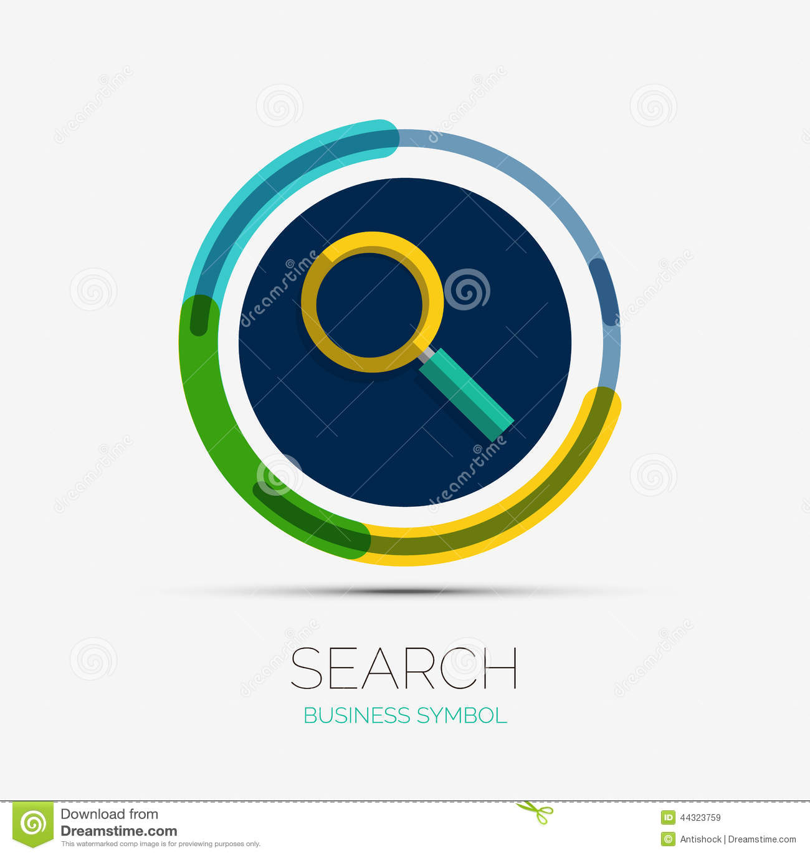 Search icon company logo minimal design stock vector for Design finder