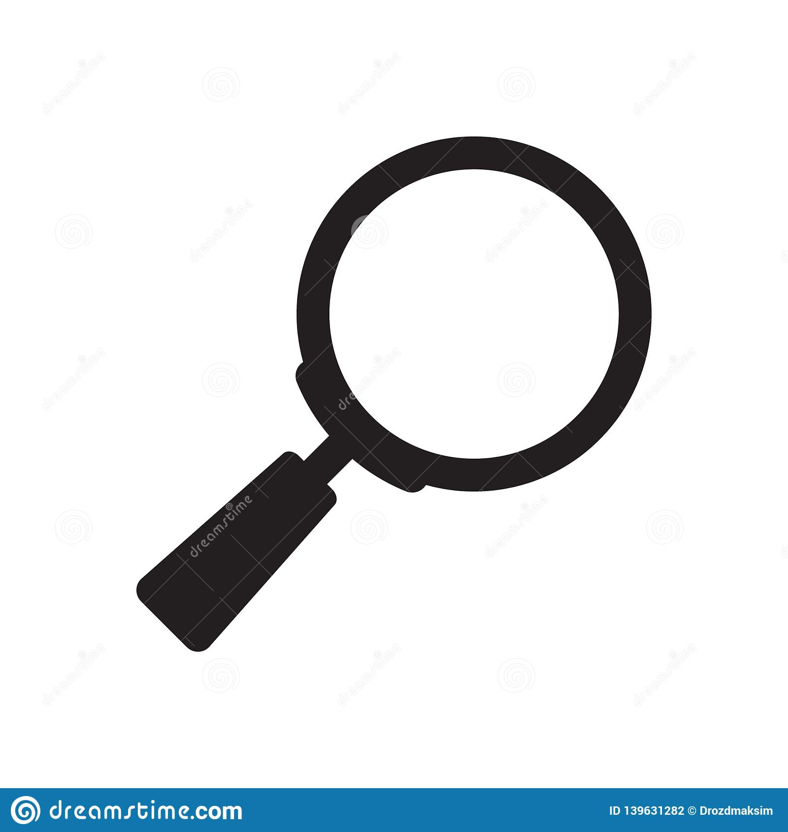 Search Icon  Magnifying Glass Icon, Vector Magnifier Or