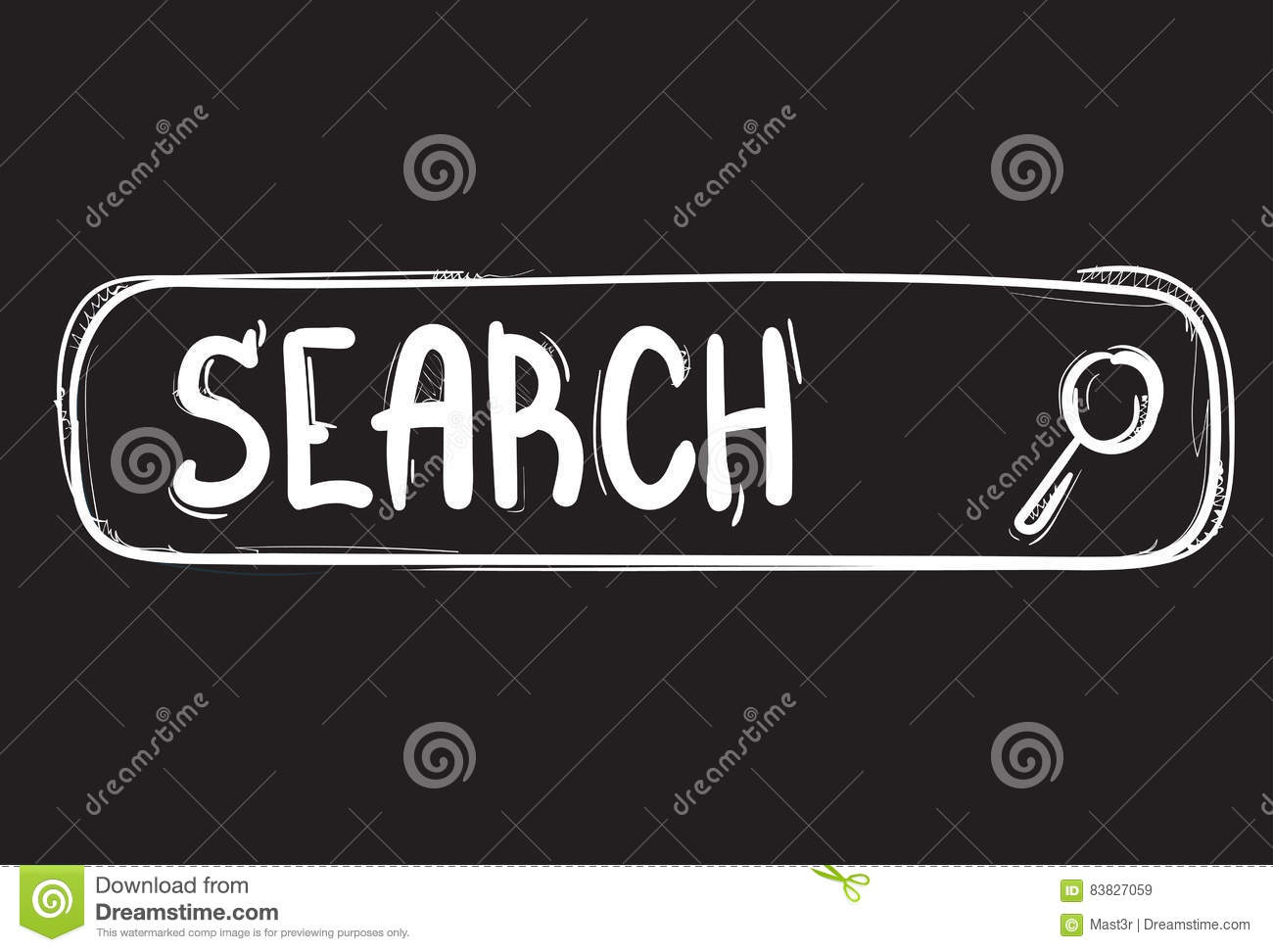 Search Information Online Internet Technology Doodle Hand Draw ...