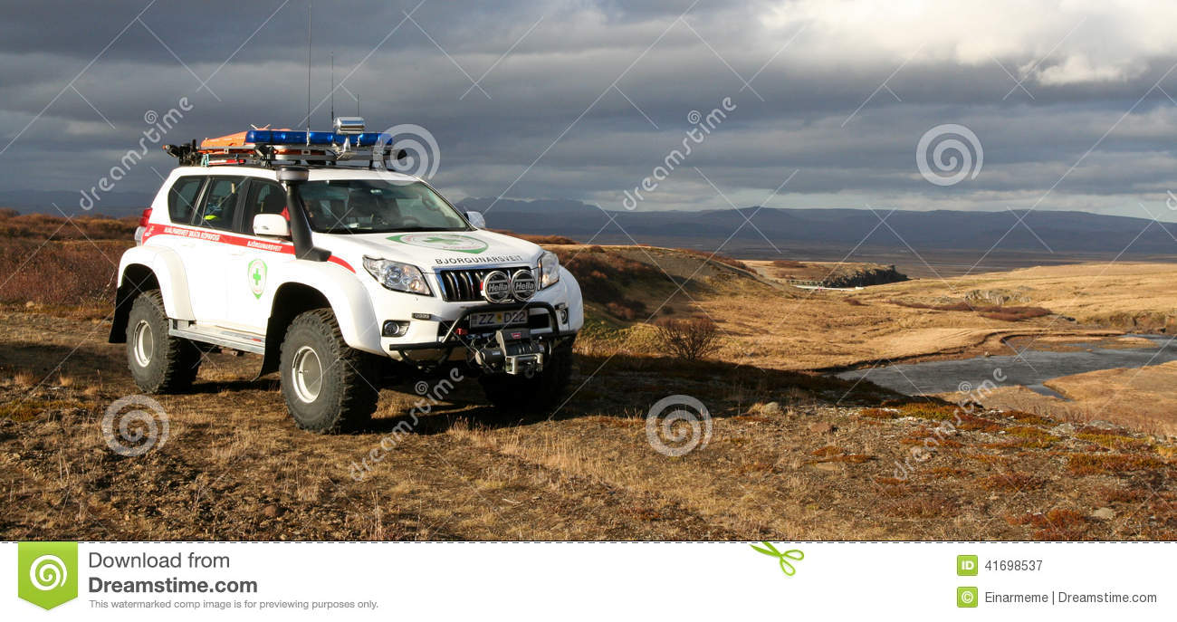search and rescue vehicle editorial photography image of
