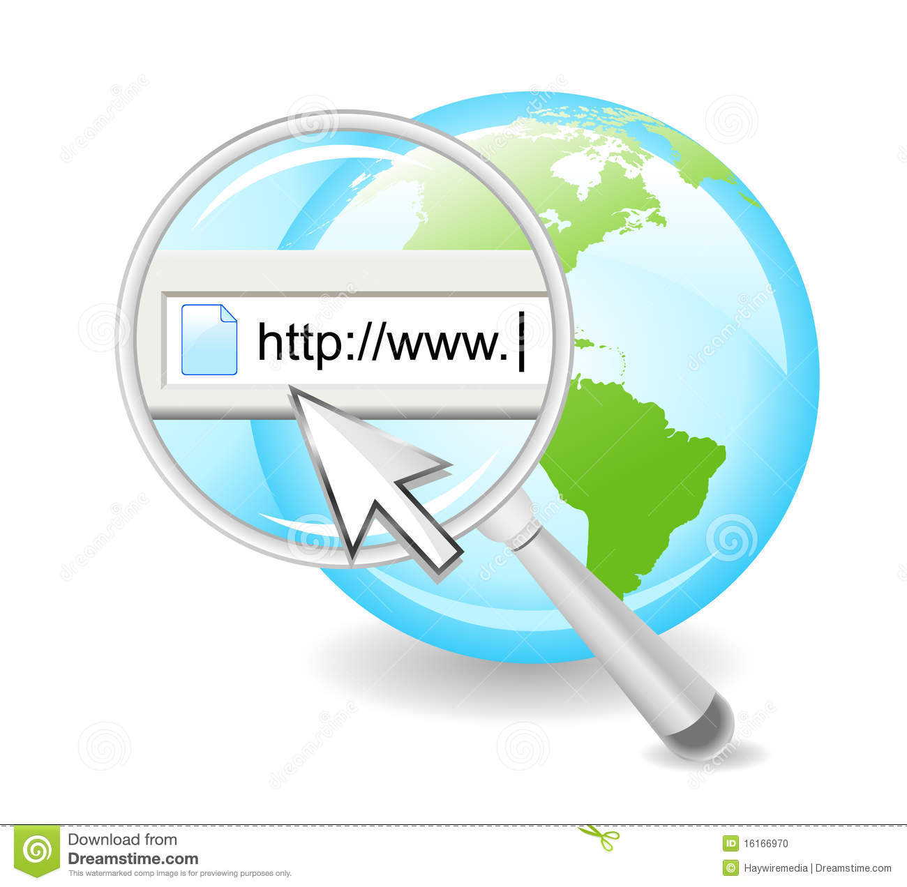 Search The Web Internet On Globe Stock Photo