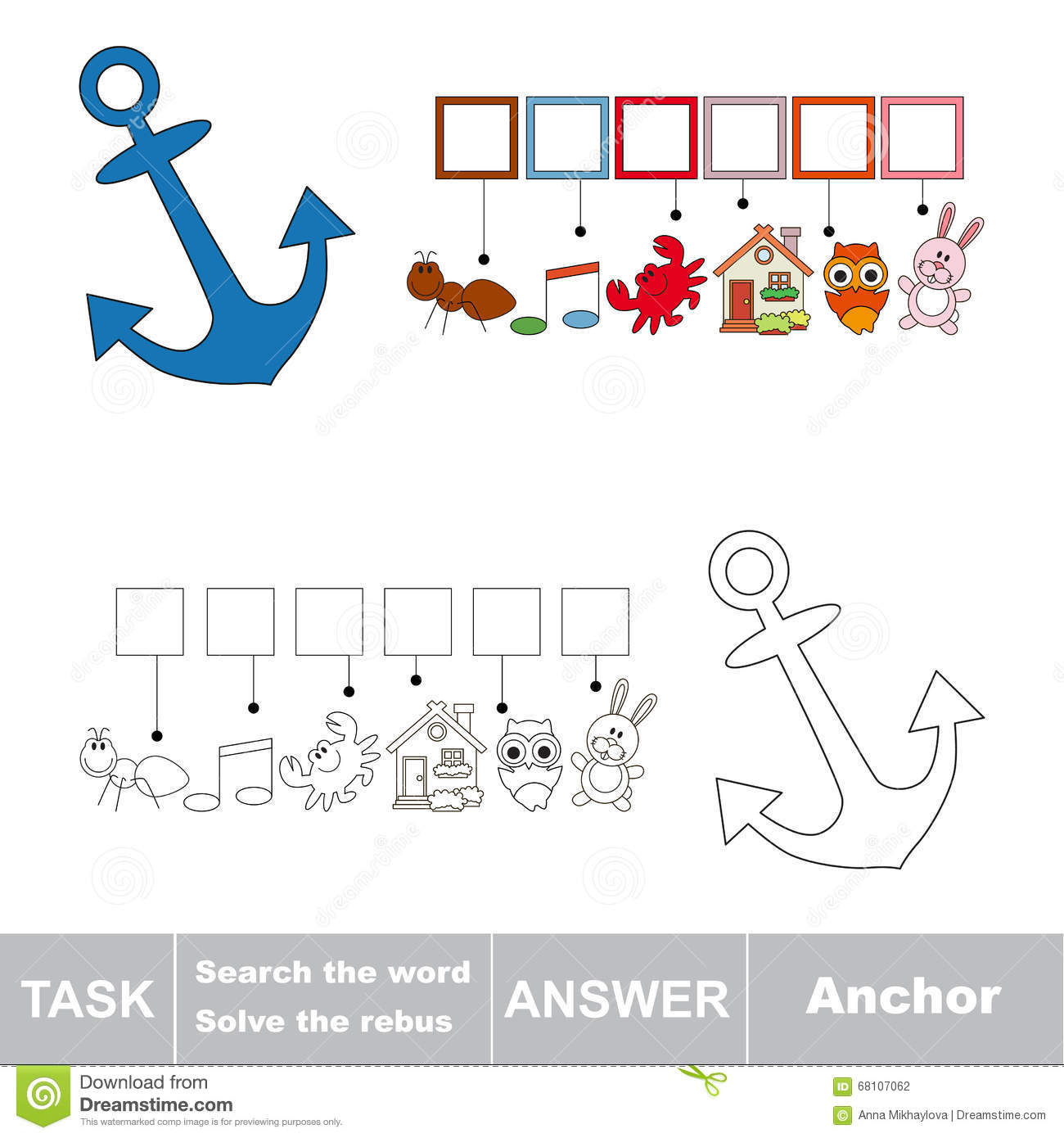 Search Word Anchor Stock Illustrations 337 Search Word Anchor