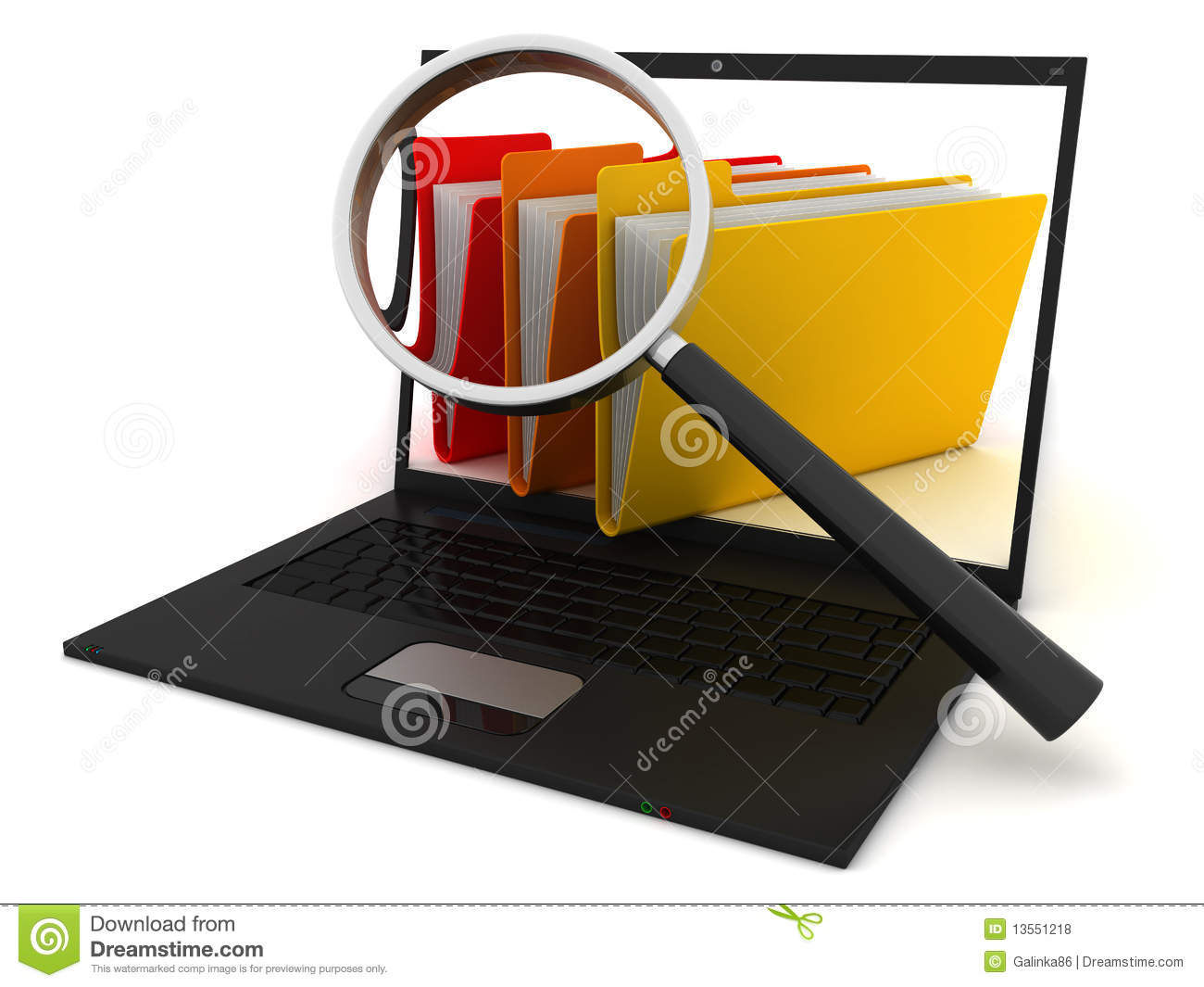 Searching The Computer Royalty Free Stock Photos - Image: 13551218
