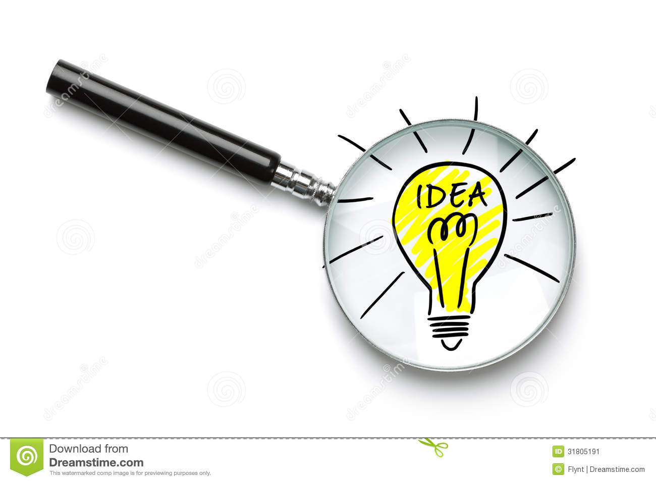 Searching for a good idea stock image. Image of drawing ...