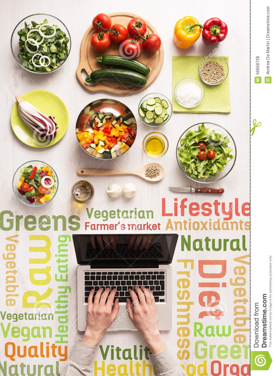 Searching for healthy vegetarian recipes online stock photo image searching for healthy vegetarian recipes online forumfinder Gallery