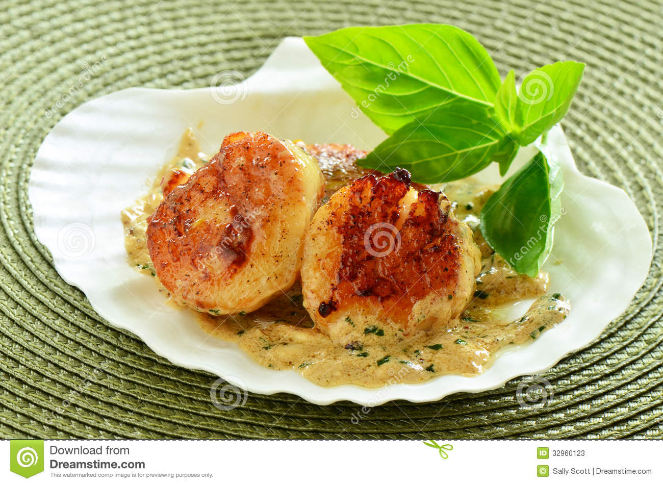 Seared Scallops With Herb-Butter Pan Sauce Recipe — Dishmaps