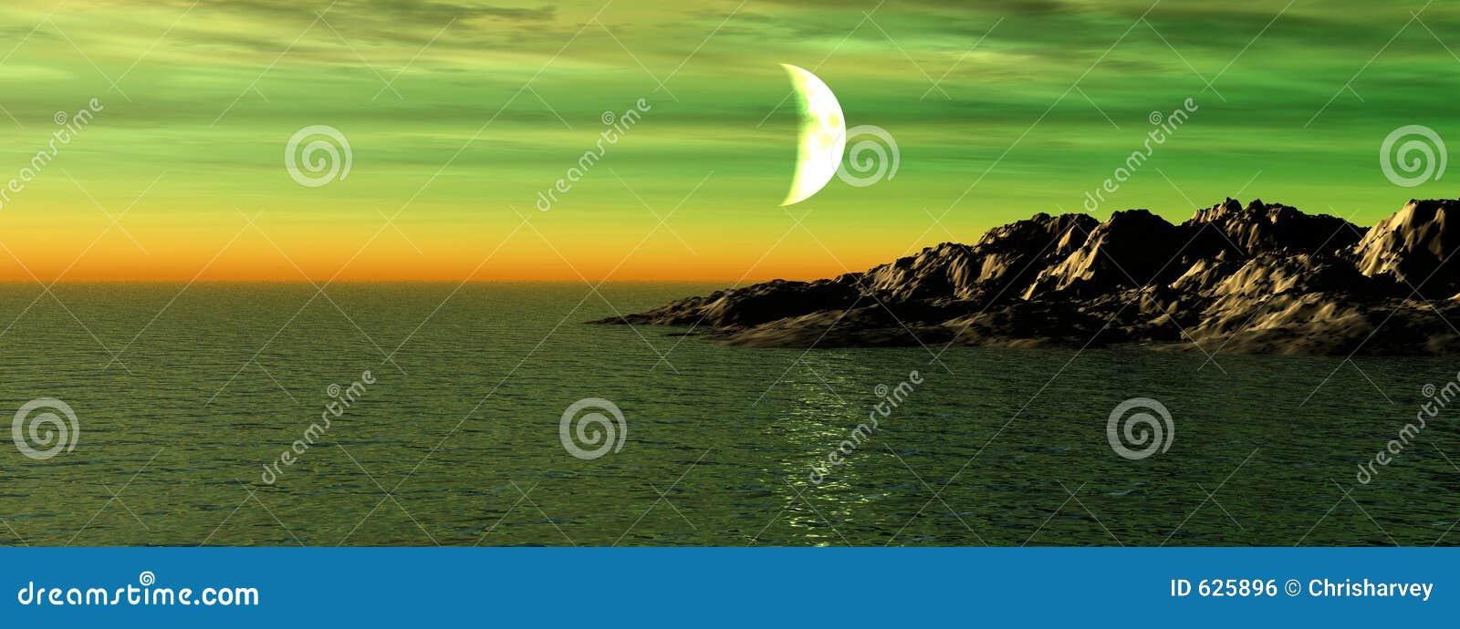 Download Seascape 7 иллюстрация штока. иллюстрации насчитывающей moonlight - 625896