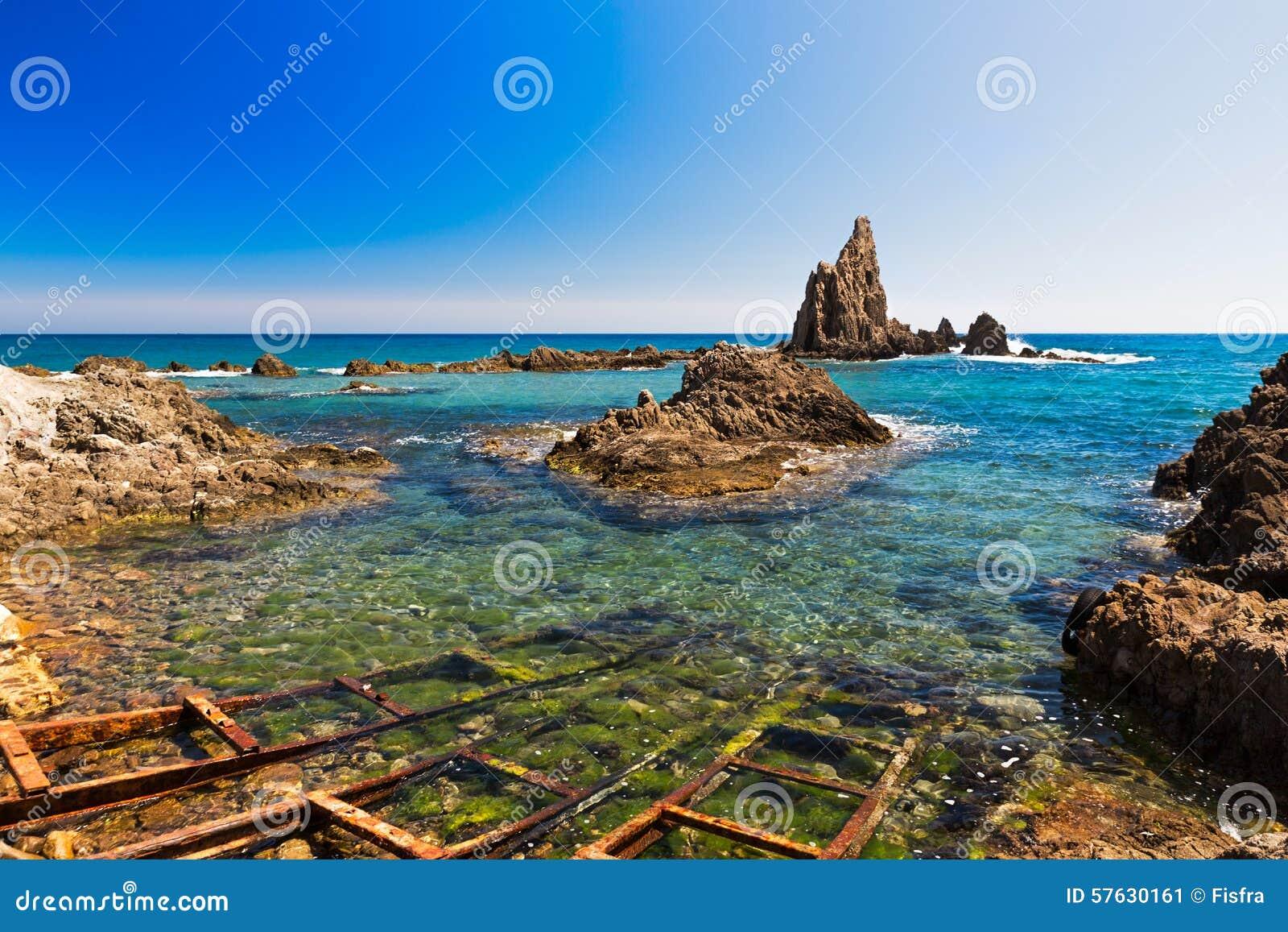 Seascape in almeria cabo de gata national park spain for Cabo de gata spain