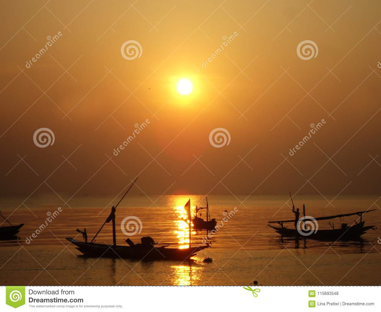 Sun rise over the sea. Natural background. Seascape color in the morning