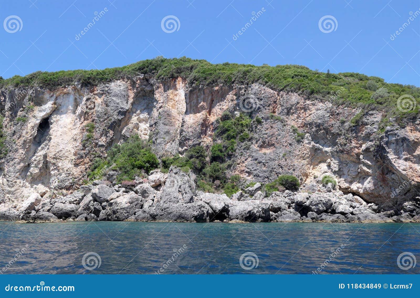 Seascape Of Corfu Island At Paradise Beach Of Liapades