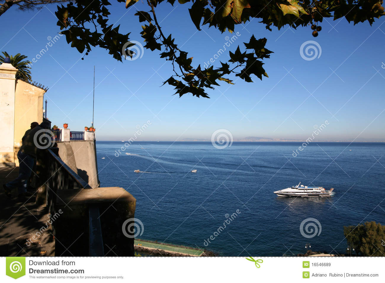 Download Seascape of Italy stock image. Image of boat, seaside - 16546689