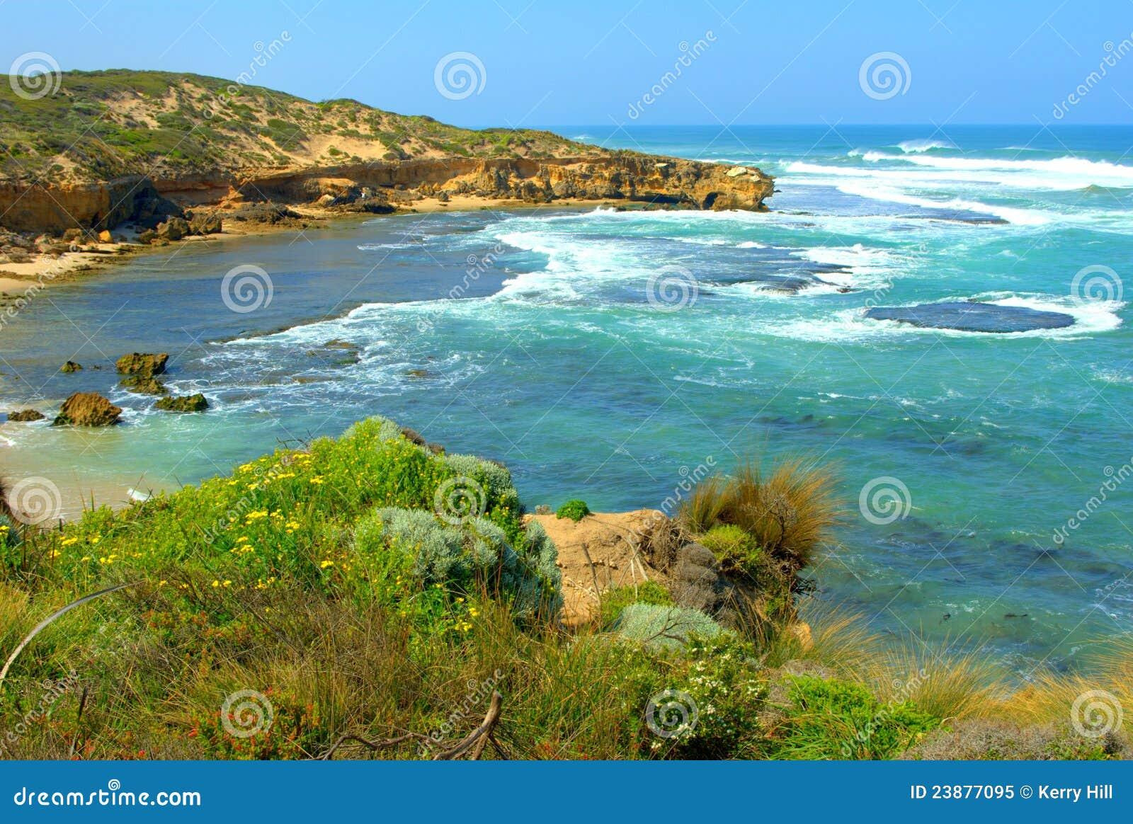 Seascape litoral do verão