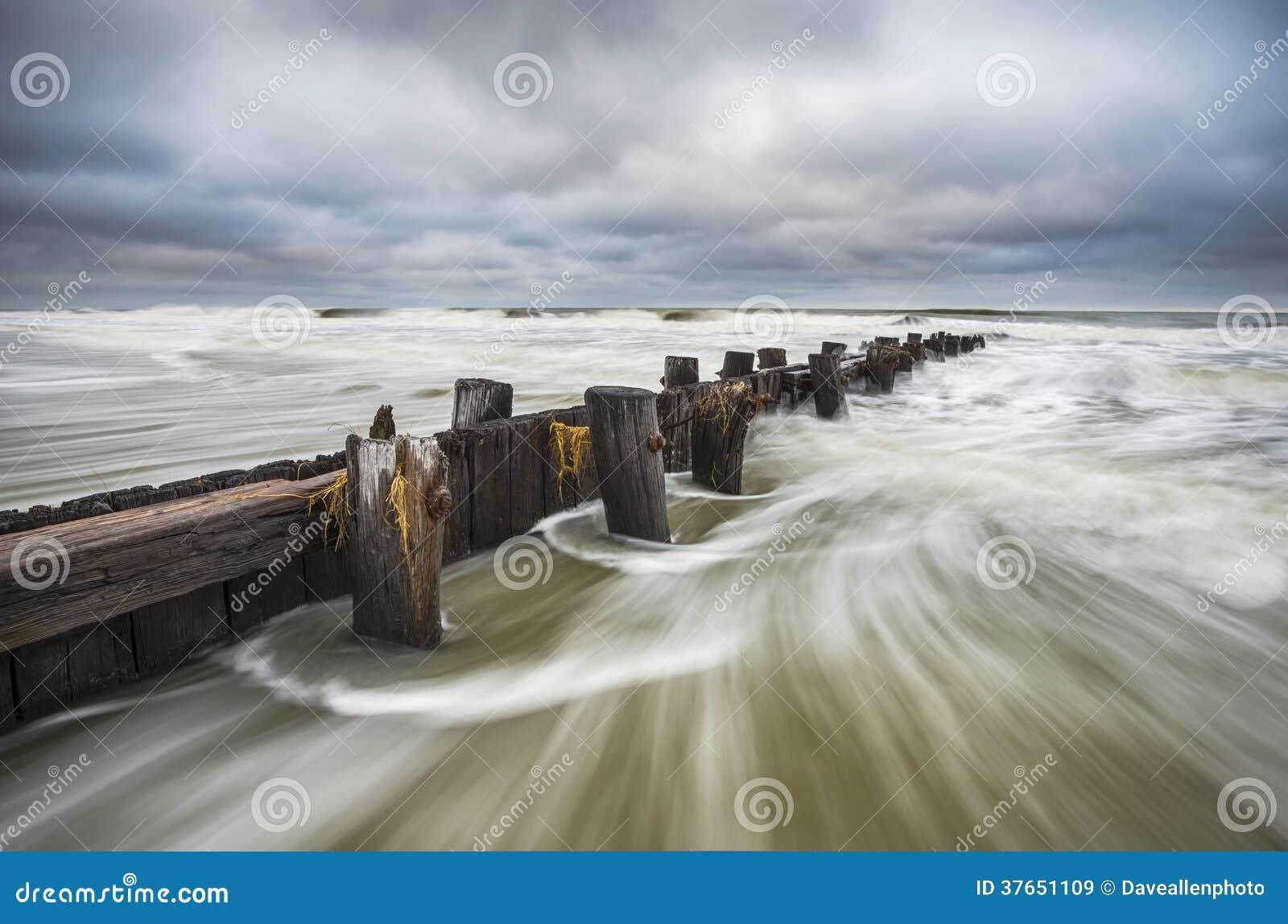 Seascape Sul Do SC De Carolina Charleston Da Praia Do