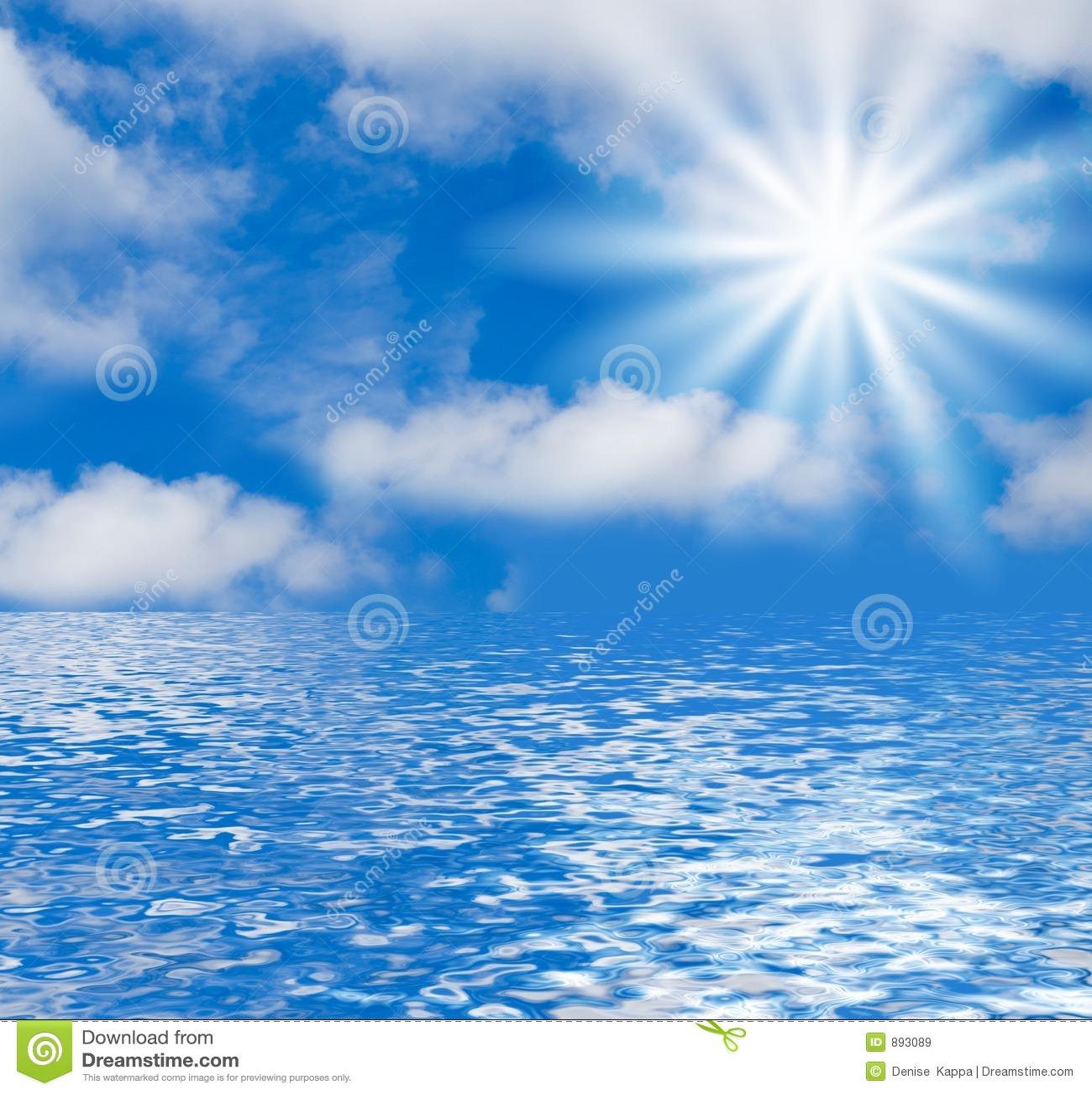 Seascape tła niebo