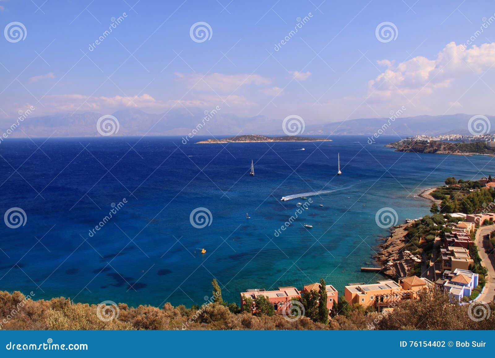 Seascape view village Agios Nikolaos