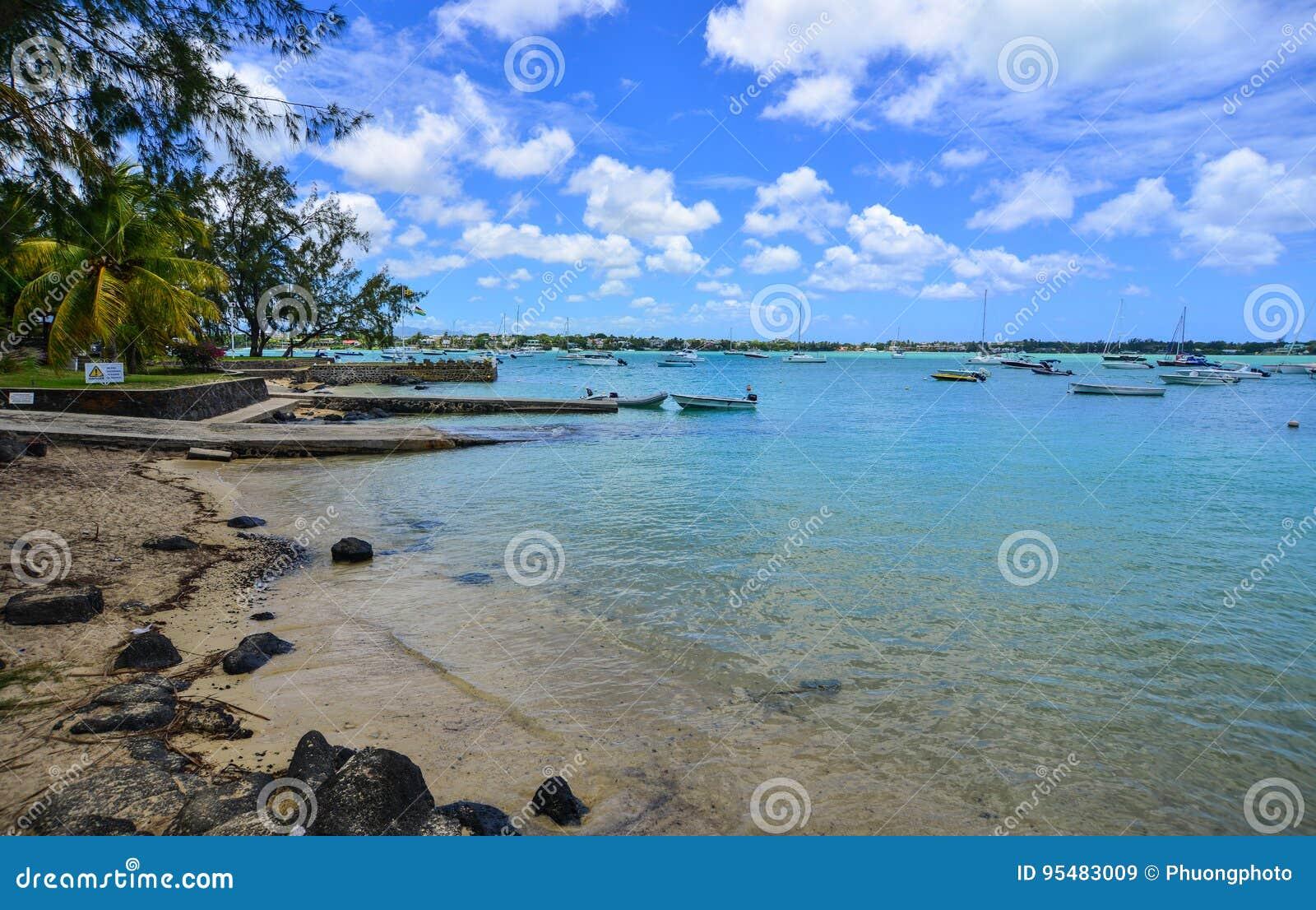 Seascape w Uroczystym Baie, Mauritius