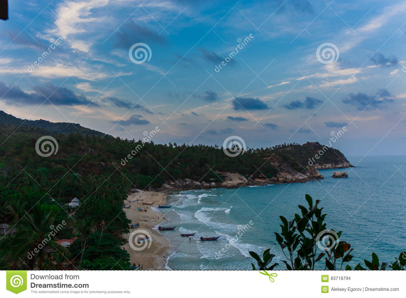 Seascape With Waves Editorial Stock Image