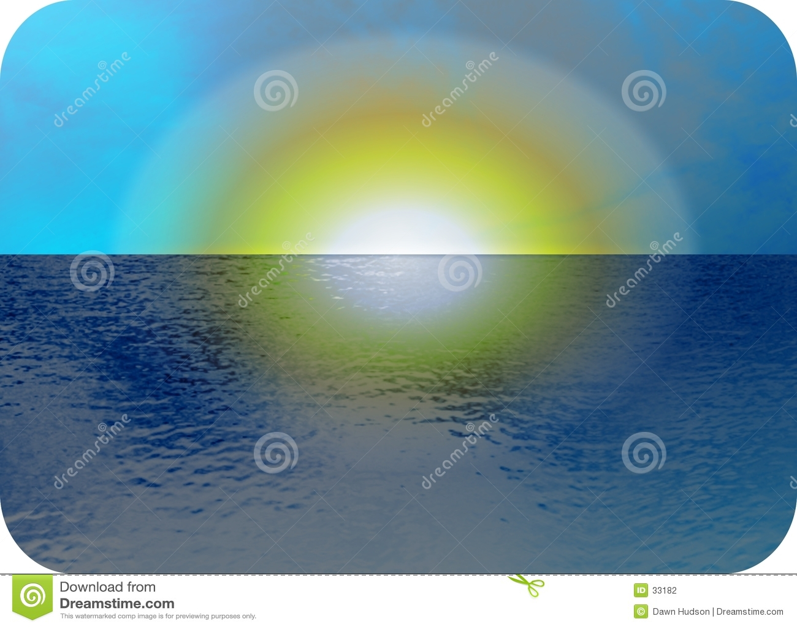 Seascapesolnedgång