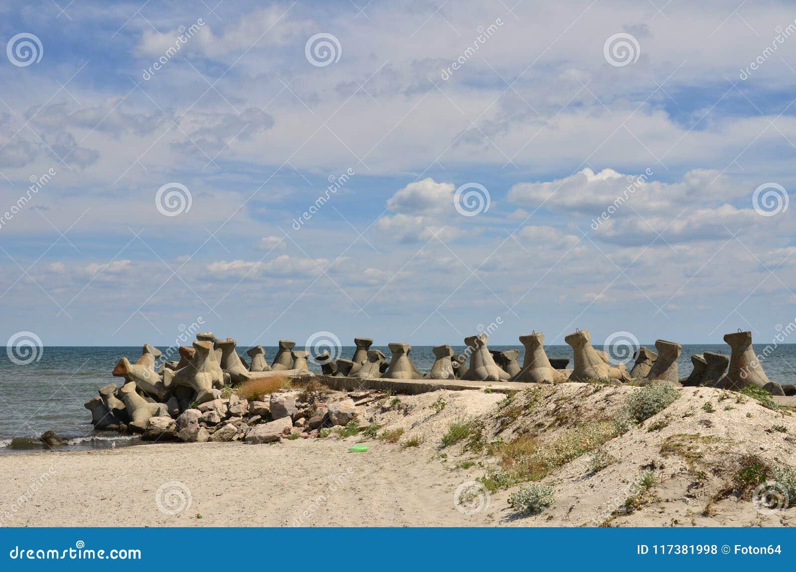 Seashore, pachwina, niebo, cloudscape