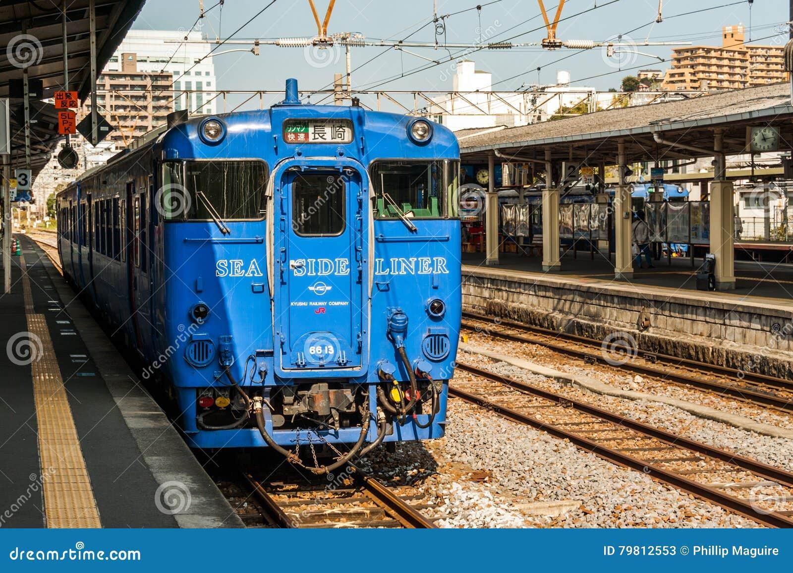 Seaside Liner' Waiting At Nagasaki Station Editorial Stock